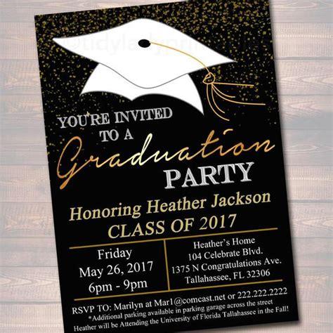 Editable Graduation Party Invitation High School Graduation High School Graduation Invitation Templates Free