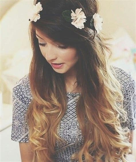 half up half down hairstyles zoella latest top 18 celebrity homecoming ombre hairstyles