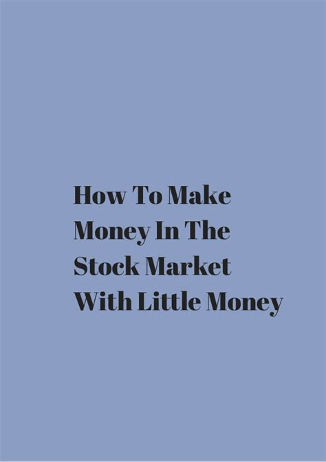 how to make money in the stock market book howsto co how to make money in the stock market