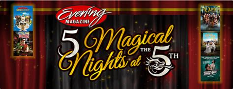 Sweepstakes Magazine Subscriptions - evening magazine s 5 magical nights at the 5th ave theatre sweepstakes win 2 5th ave