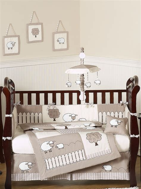 neutral baby bedding crib sets sheep nursery bedding set thenurseries