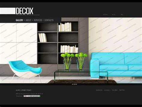 interior design websites home interior design website template youtube
