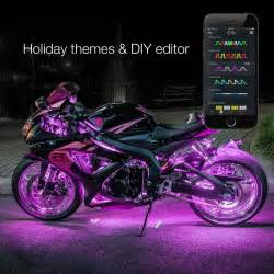 motorcycle led lights xkglow 174 xkchrome bluetooth app multi color