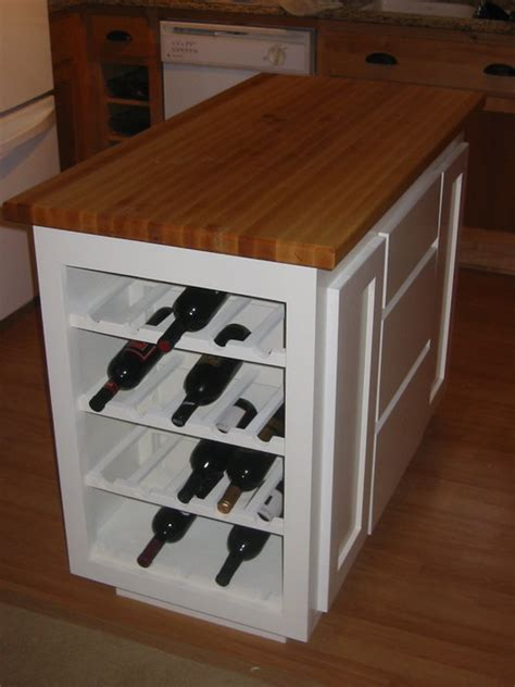kitchen island with wine storage kitchen island with wine rack by elvin lumberjocks