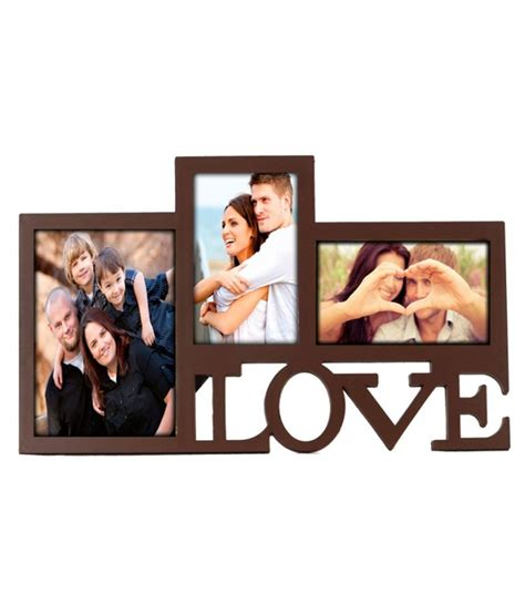 Collage 3in1 collage 3 in one photo frame brown buy collage 3 in one photo frame brown