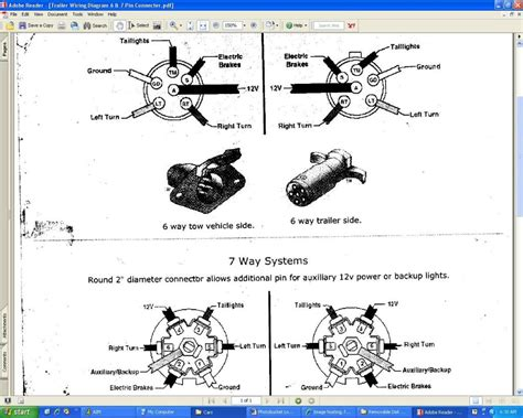 trailer 7 pin connector wiring diagram trailer get free