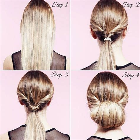 easy and quick party hairstyles how to do a twisted bun up do in 5 easy steps twist bun