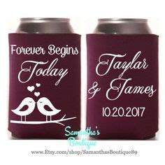 Custom Wedding Koozie   Best Day Ever! With Name and Date