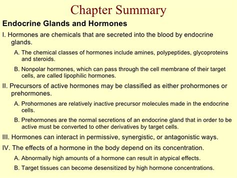 endocrine system chapter goals  describe  structure