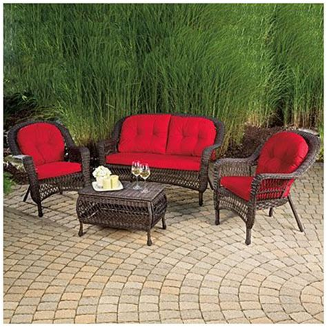 resin wicker outdoor furniture big lots wilson fisher 174 charleston resin wicker 4 seating