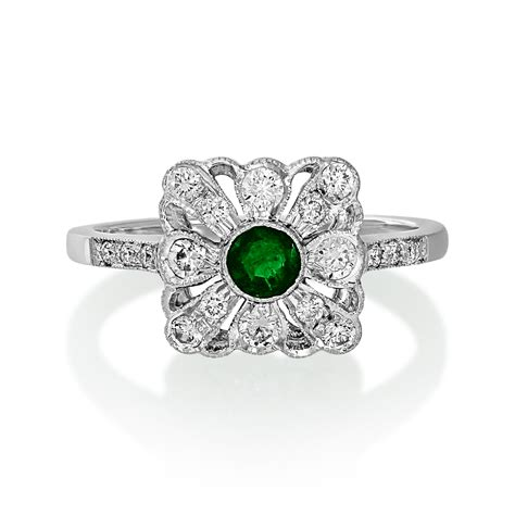 second deco rings deco emerald and ring buy sell pre owned
