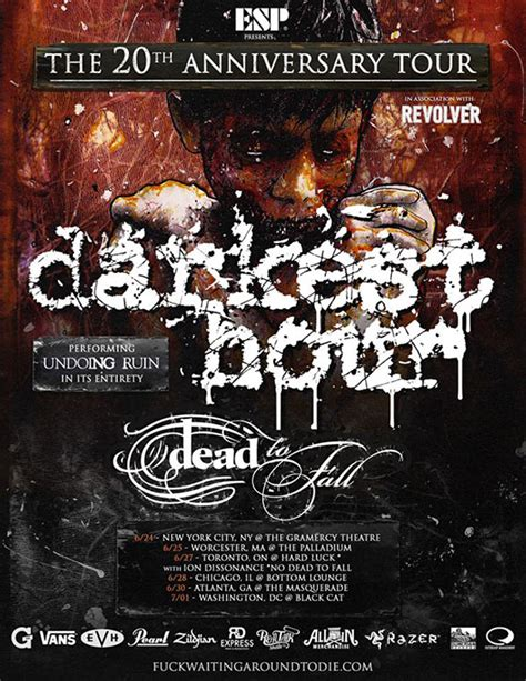 Darkest Hour Tour | darkest hour dead to fall tour dates