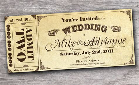 ticket wedding invitation template mind blowing ticket wedding invitations theruntime