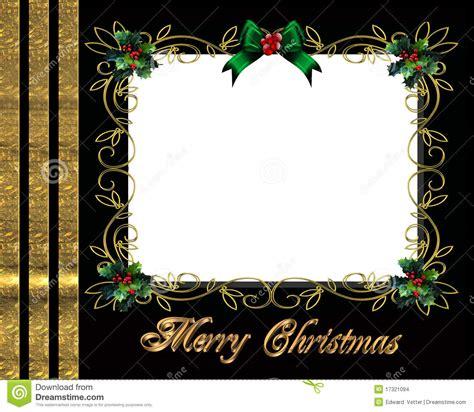 christmas border photo frame elegant stock images image
