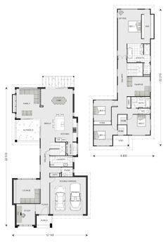 floor plans for narrow blocks narrow block home designs home interior design