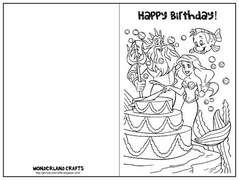 printable birthday cards coloring wonderland crafts birthday cards