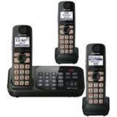 New Wireless Phone Panasonic Kx Tgb 110 Telepon Rumah Wireless panasonic kx tg4743b dect 6 0 cordless phone with 3 handsets for 110 220 volts 110220volts