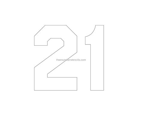printable jersey numbers free jersey printable 21 number stencil