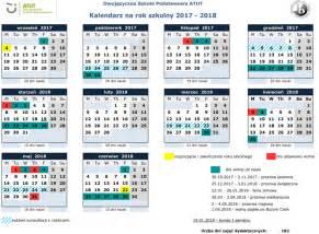 Kalendarz Ze świętami Na 2018 Rok Kalendarz Szkolny 2017 2018 Dwujęzyczna Szkoła