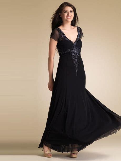 abendkleid lang schwarz mit aermel