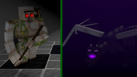 ender and minecraft iron golem ender demo reel animation