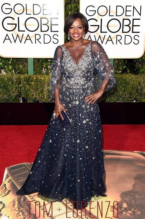 Do You Miss The Golden Globes Carpet by Golden Globes Viola Davis In Marchesa Tom Lorenzo