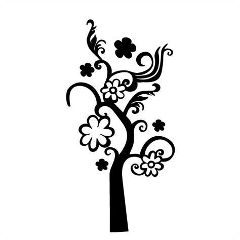 All Wall Stickers swirly branch wall art stickers for interior decorating