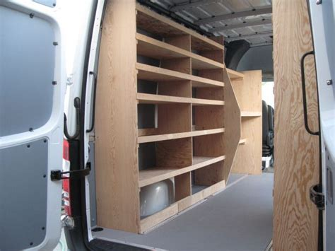 sprinter shelving ford transit work ideas