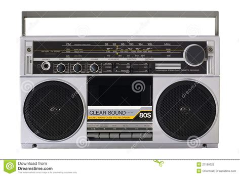 80s online radio retro radio from the 80s stock image image of school