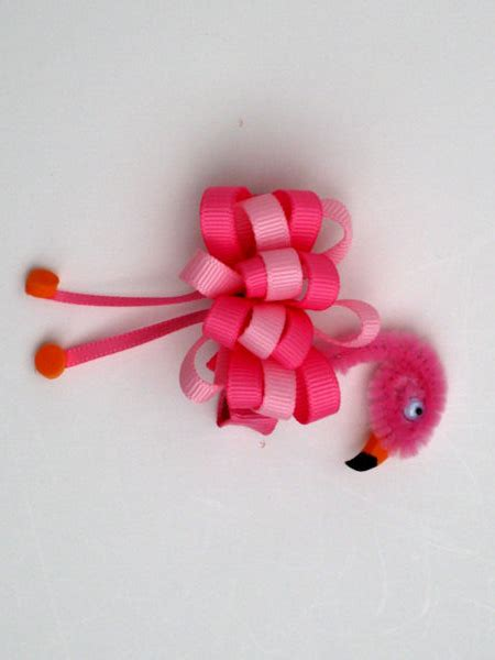 ribbon hair accessories instruction flamingo ribbon sculpture hair clip virginia bows