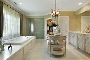 Large custom bathroom design with elevated tub room surrounded by
