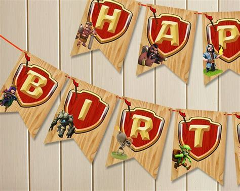clash of clans printable birthday banner 1000 images about clash of clans party on pinterest
