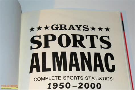 grays sports almanac back to the future 2 books back to the future 2 grays sports almanac replica prop