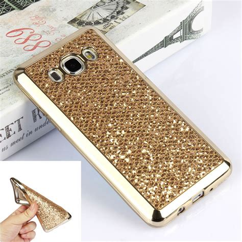 Diskon Golden Metalic Looking Soft Cover F luxury glitter bling gold soft for samsung galaxy j5 prime g570 sm g570f g570fh j5 2016