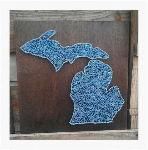 Etsy String - items similar to made to order michigan string state