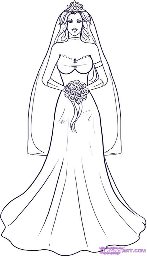 42 best images about wedding bride coloring pages on