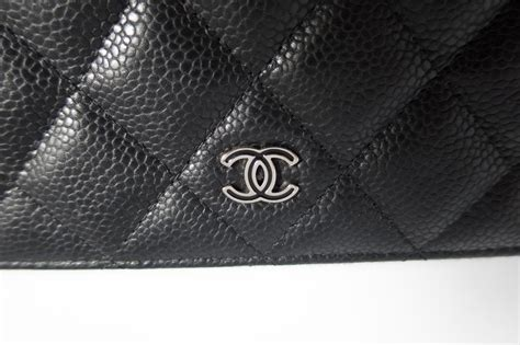 Ocase Gucci 1 authentic preloved chanel o pouch clutch bag in black caviar leather with silver hardware