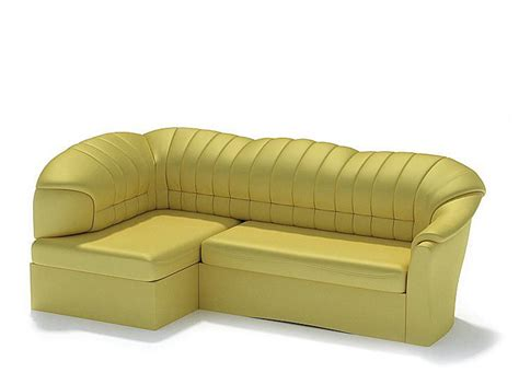 Yellow Leather Sofa Yellow Leather 3d Model Cgtrader