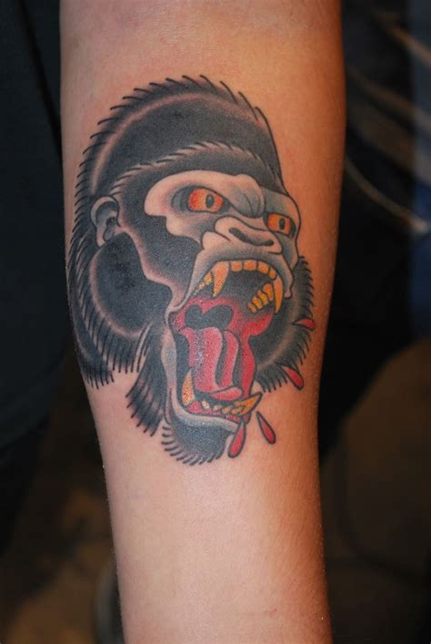 old school traditional tattoos traditional gorilla flash search all