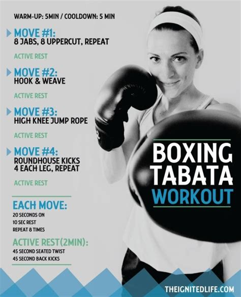 boxing tabata printable card included