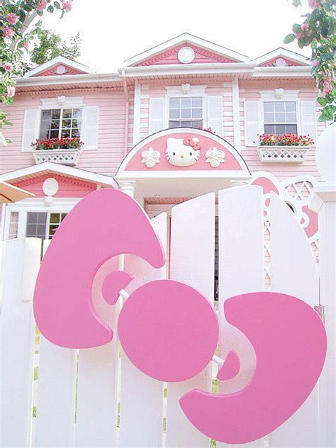 hello kitty mansion cute hello kitty home mansion pink image 453234 on