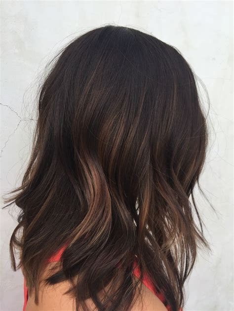 a line with subtle balyage highlights hair balyage 115 best hair color dark images on pinterest brunette