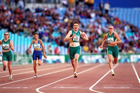 track racing file 301000 athletics track 200m t38 mcintosh wins gold 3b 2000 sydney race