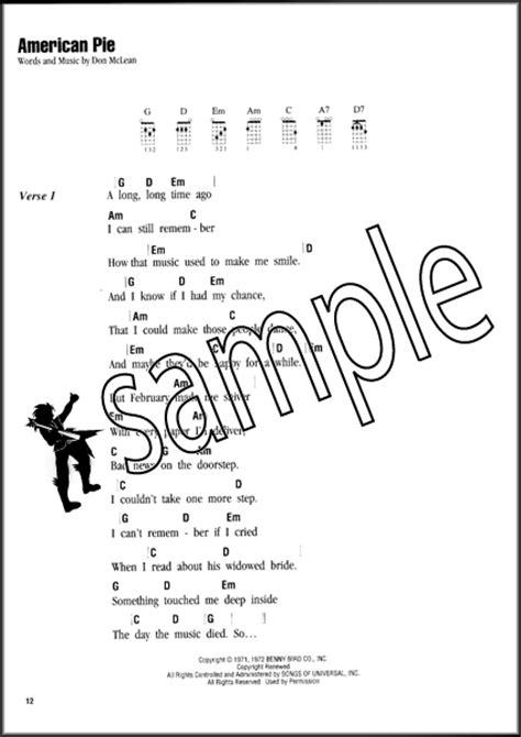 Ukulele Sing Along Songs Chord Songbook American Pie Sweet