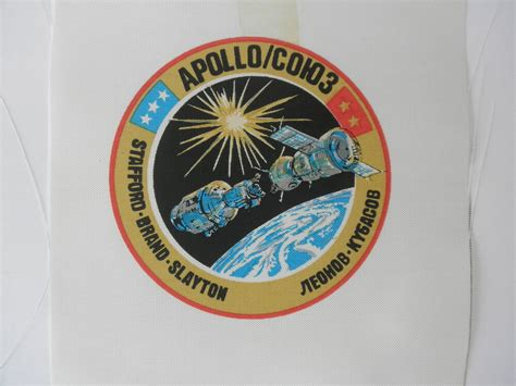 apollo mission patches ebay vintage nasa beta cloth mission patch apollo soyuz