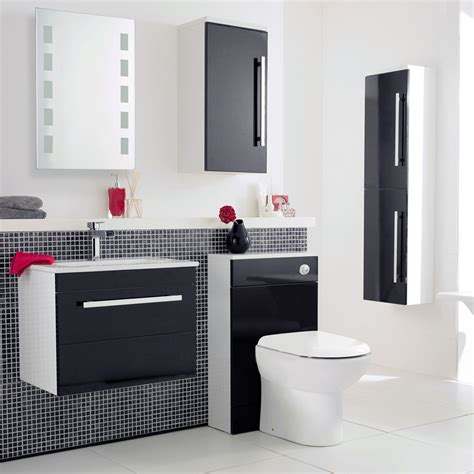 ultra high gloss black furniture pack at plumbing uk