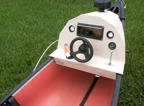 lawnmower boat motor plywood boat plans mower geno