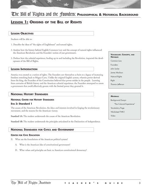 Bill Of Rights Worksheet Pdf by 17 Best Images Of Bill Of Rights Worksheet