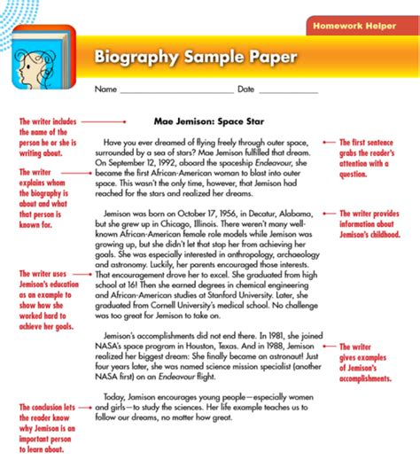 features of a biography and an autobiography english lesson one learning lounge