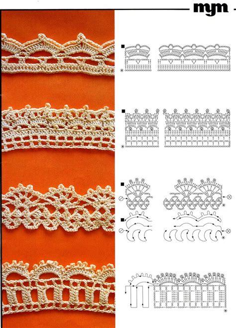crochet lace diagram 1000 images about bordes tejidos on filet